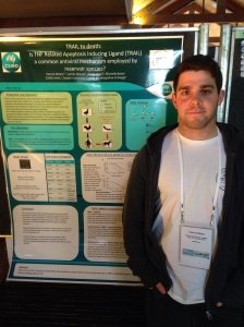 Patrick presenting at the Wildlife Disease Conference-small2